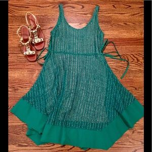 Tracy Reese Anthro Green Burnout side tie Sz s